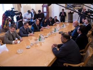 С.Лавров и бывший президент Афганистана Х.Карзай