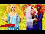 Spiderman loves Anna, not Elsa ! Love story of Spiderman and Anna. Elsa is very jealous )