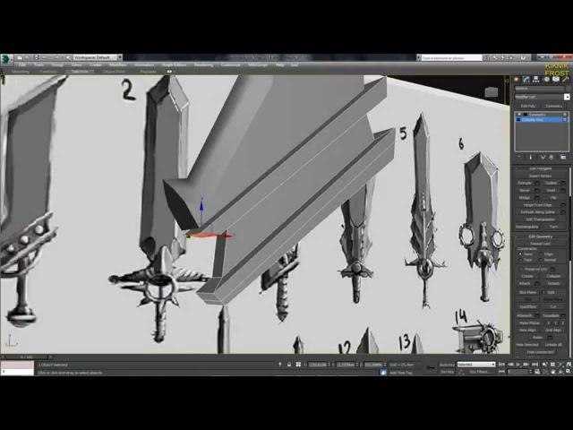 3D Max KF - №2 Моделирование, приемы и настройки.