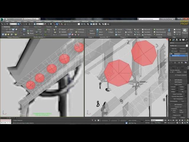 3D Max KF - №3 как делать отверстия