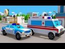 Мультик про Машинки Полицейская Скорая Пожарная Машинки в Городке - 3D Мультфиль ...
