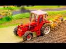 Traktor Agricultural Machiner Wesoły Traktorek Praca i Zabawa w Mieście Auta Bajki