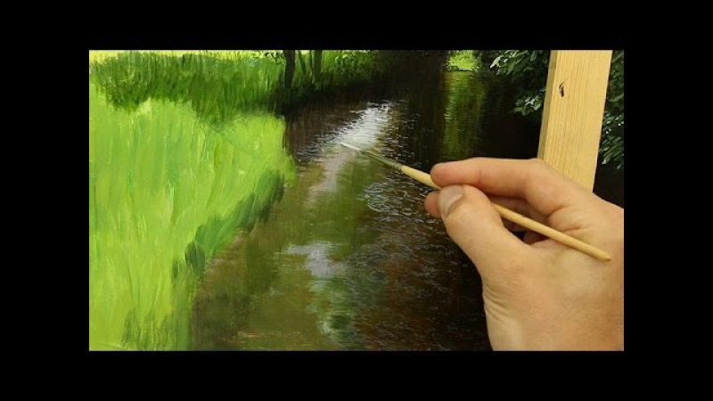How To Paint A River In Oil | Oil Painting Tutorial