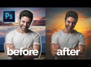Photoshop Tutorial | How To Retouch, Removing Background, Compositing | MaxAsabin Photo Manipulation
