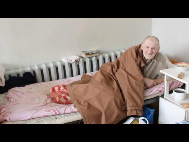 Поздравление бездомных в больнице с Рождеством Христовым. Харьков. 4-я неотложка.