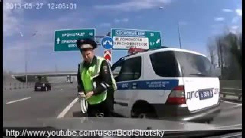 Беспредел ДПС ГАИ Полиции в Питере! гаишник АХУЕЛ
