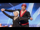 SALSA !!!! GREAT GRANDMOTHER Sarah Paddy Jones &amp Nico Britain's Got Talent SUPER BABCIA abuela