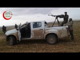 Бойцы Бригады Самарканд (САА) ведут огонь по позициям САА на фронте Аль-Гуз к юго-западу от Аль-Баба.