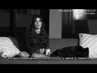Lea talking about 'Getaway Car' and Cory Monteith (RUS SUB)