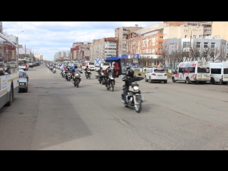 Колонна на открытие мотосезона в г. Королёв 2016 год