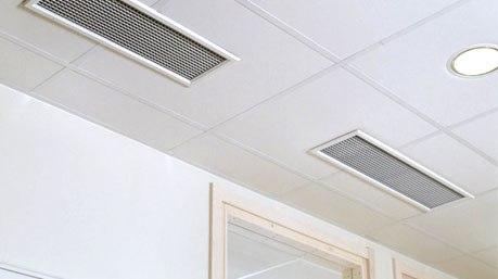 Вентиляция из ПВХ в офисе