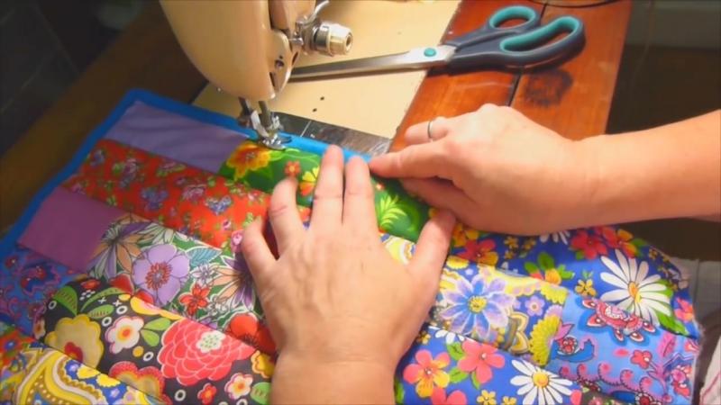 Лоскутное одеяло Ленты всего за 30 минут! Мастер-класс Мир лоскутов.ру (1)