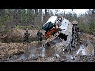 Мастерство и безбашенность водителей тяжелых вездеходов мтлб гтт Оффроад на се ...