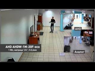 Сравнение CVBS и AHD камер видеонаблюдения