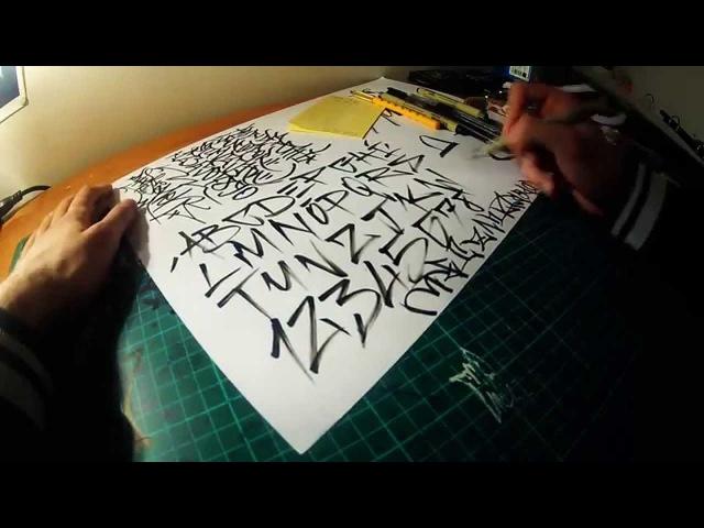 Alphabet A to Z Letters With Brush Pen - Sakura Pigma Brush- Calligraphy Calligrafia