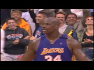 Shaquille O'Neal Reverse Alley Oop to Kobe Bryant