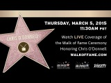 Chris O'Donnell Walk of Fame Ceremony