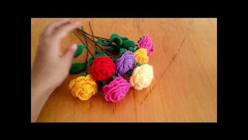 Цветок роза со стебельком крючком часть2