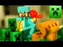 МАЙНКРАФТ Мультики ПОРТАЛ в МИР КРИПЕРОВ Лего Майнкрафт Мультфильм - Lego Minecraft A...