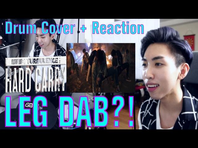 GOT7 Hard Carry MV REACTION DRUM COVER! 2 IN 1 LEG/KNEE DAB!