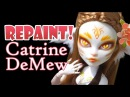 Repaint! Catrine DeMew Nature Cat Monster High Ooak Custom Face Up!
