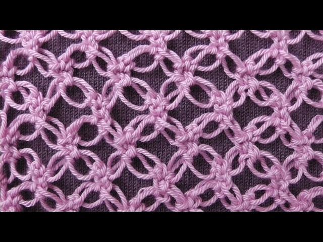 Соломоновы петли или Соломонов узел (Solomons knot). Ажурный узор для шалей, палантинов и отделки