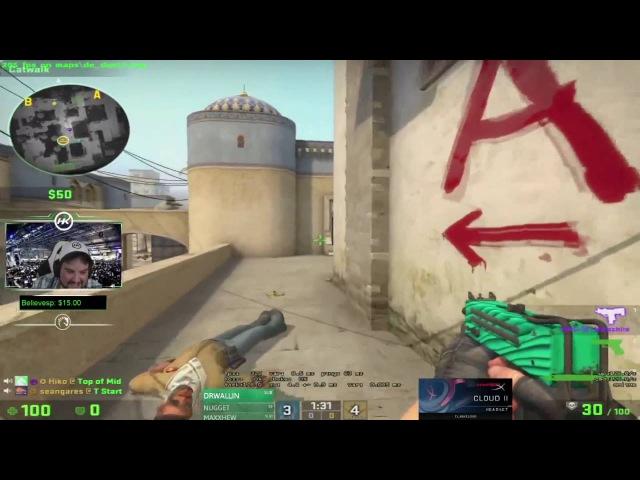 HIKO MAC-10 ON PISTOL ROUND?! | CS:GO