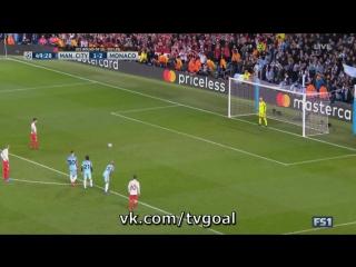 Манчестер Сити 1:2 Монако | Фалькао не забил пенальти