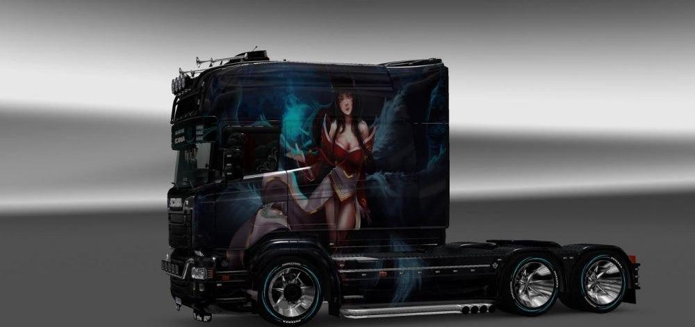 Skin Ahri v2 for Scania RJL Longline