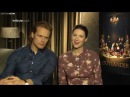 'Outlander' Stars Sam Heughan And Caitriona Balfe Play InStyle Agony Aunts [RUS SUB]