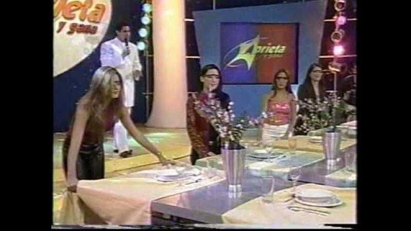 Jonathan Montenegro y Chantal Baudaux en Aprieta y Gana, 2000