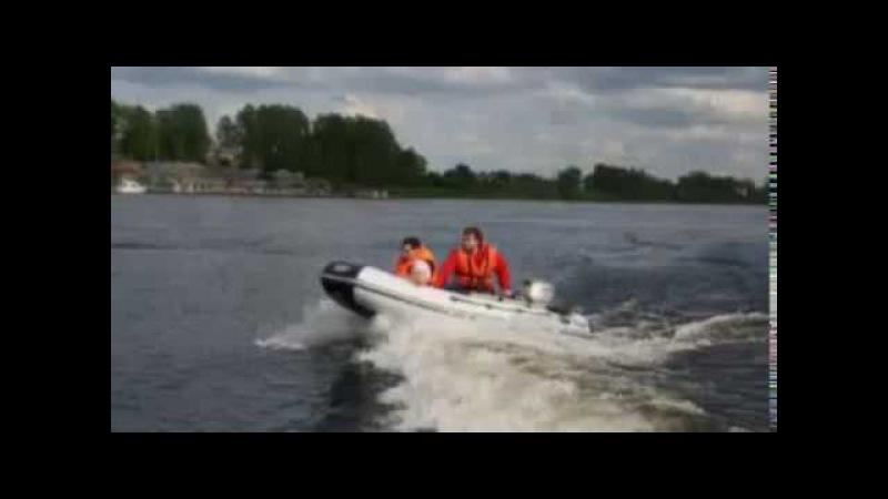 Лодка ПВХ от МНЕВ и К - J SILVER 330 - тест под мотором