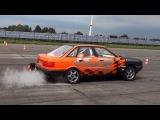 Audi 80 VR6 Quattro Turbo 1100hp Drag Race Acceleration &amp Sound