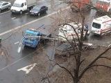 Водитель BMW сбежал с места крупной аварии в Москве