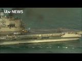 Адмирал Кузнецов на горящих руснявых пуканах