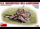 Обзор масштабной модели американского мотоцикла WLA фигурка, 1/35, MiniArt