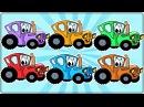 Синий трактор Раскраска Учим цвета Цветные машинки Развивающее видео Мульти ...