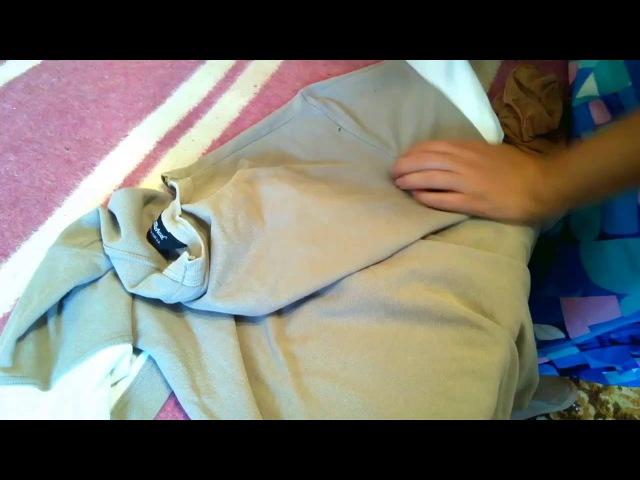 Как аккуратно ЗАШИТЬ ДЫРКУ (ДЫРУ) на одежде из трикотажа (футболке и др.) Sew up the tear HANDE-MADE