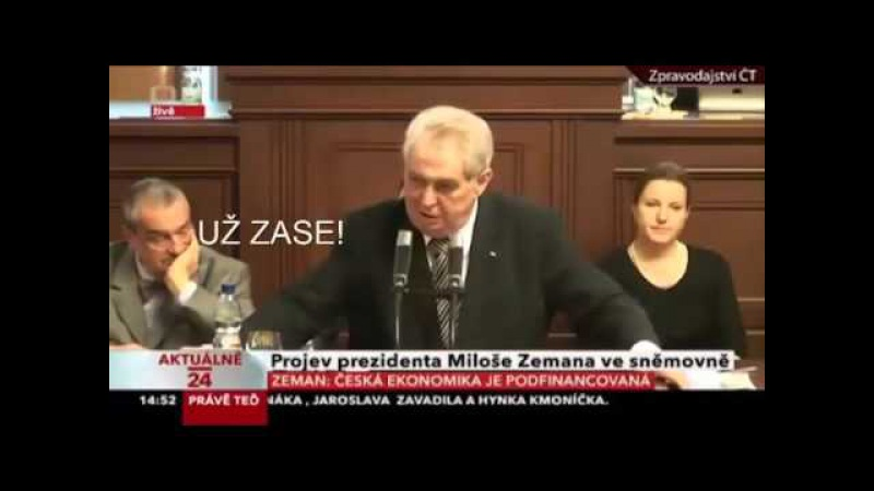 Miloš Zeman probudil Karla Schwarzenberga BEST VIDEO!