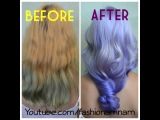 Nam Nguyen - Kelly Osbourne inspired Balayage Ombre how to purple hair