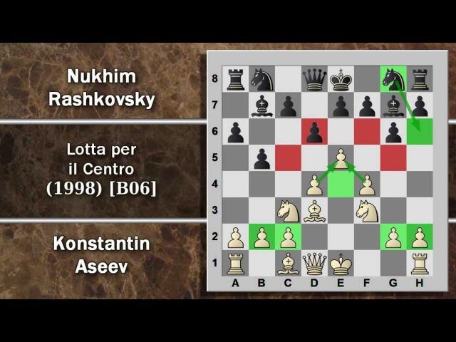 Partite Commentate di Scacchi 45- Aseev vs Rashkovsky - Lotta per il Centro - 1998 [B06]