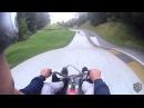 Соревнование на скоростной спуск с горы на санях !ЛЕТОМ!