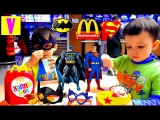 Бэтмен против Супермена Хеппи Мил Макдональдс Мультик Happy Meal McDonald's Superheroes HappyVova