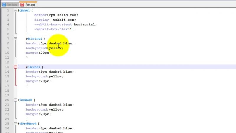 Yakın Kampüs - HTML5CSS3 Ders 11 - Esnek Kutu (Flexible Box) Yöntemi - Kısım 3