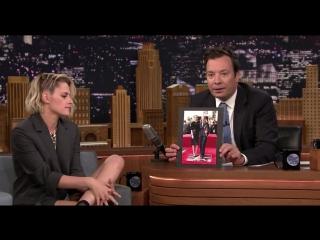 Кристен Стюарт (Kristen Stewart) на шоу Джимми Фэллона (11 июля 2016 года)