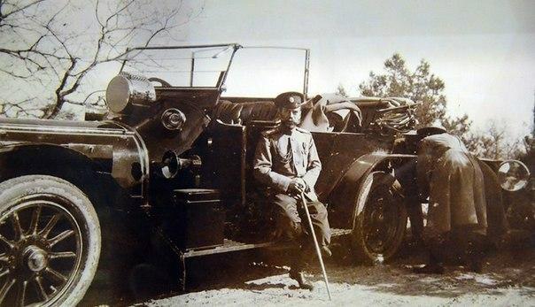 """Император Николай II и его авто """"Дэлонэ-Бельвиль"""","""