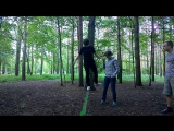 slackline, one of the first attempts by Ksenia