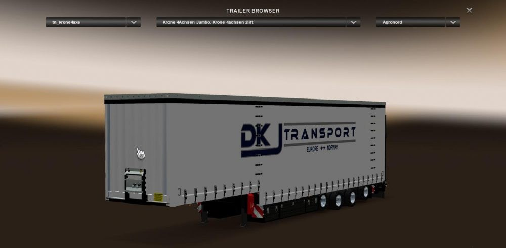 DKJ Transport Skin for Krone Jumbo 4 Axle