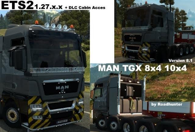Грузовик MAN TGX 8×4 10×4 v8.1