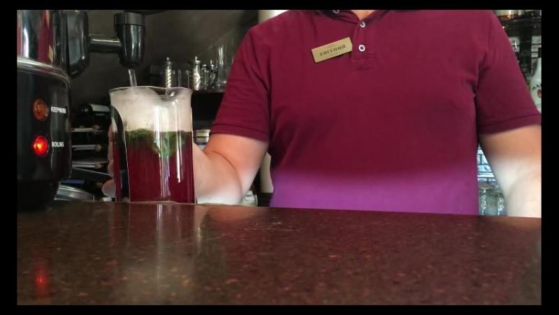 Брусничный чай в Vinsent cafe